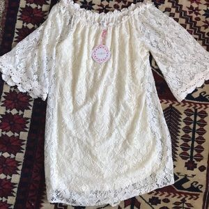 NEW WITH TAGS white lace dress